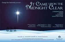 George Fox University Christmas Program (Poster, Postcard, and Program)