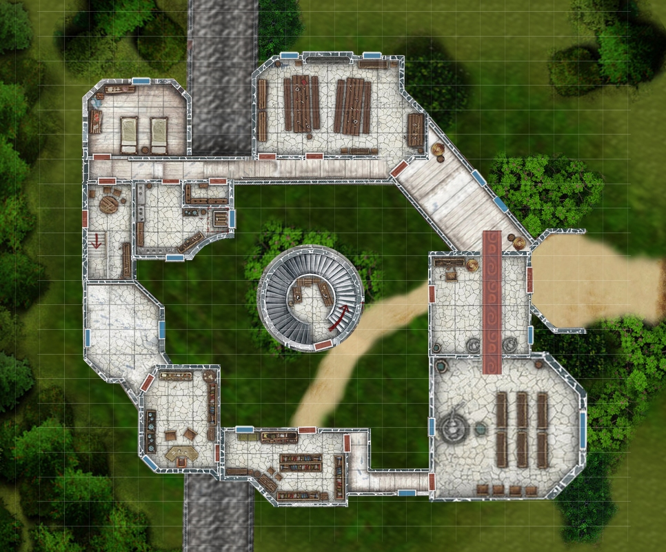 Dreadstorms Mansion - Ground Level