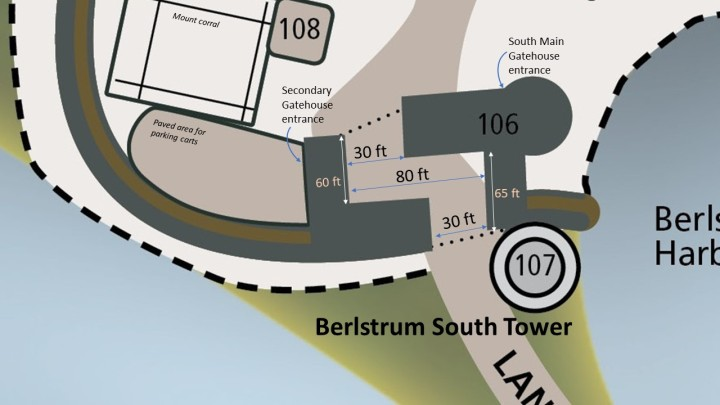 Zoom in - Berlstrum South Gate with details