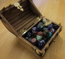 open Mimic Box with dice