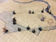 Players Encounter the Troglodytes on Battle Grid