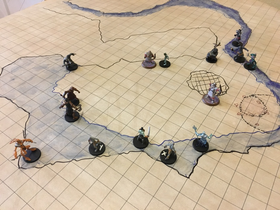 Players Encounter the Troglodytes on Battle Grid
