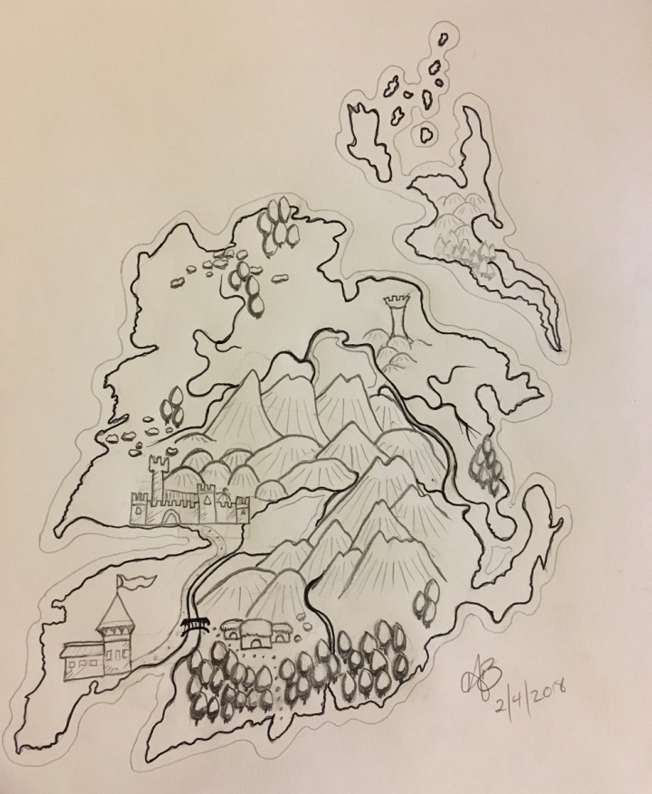 2nd Map effort - Big mountains, weird towns