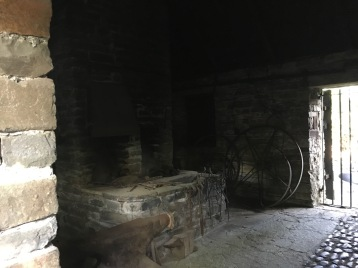 A cold blacksmith forge