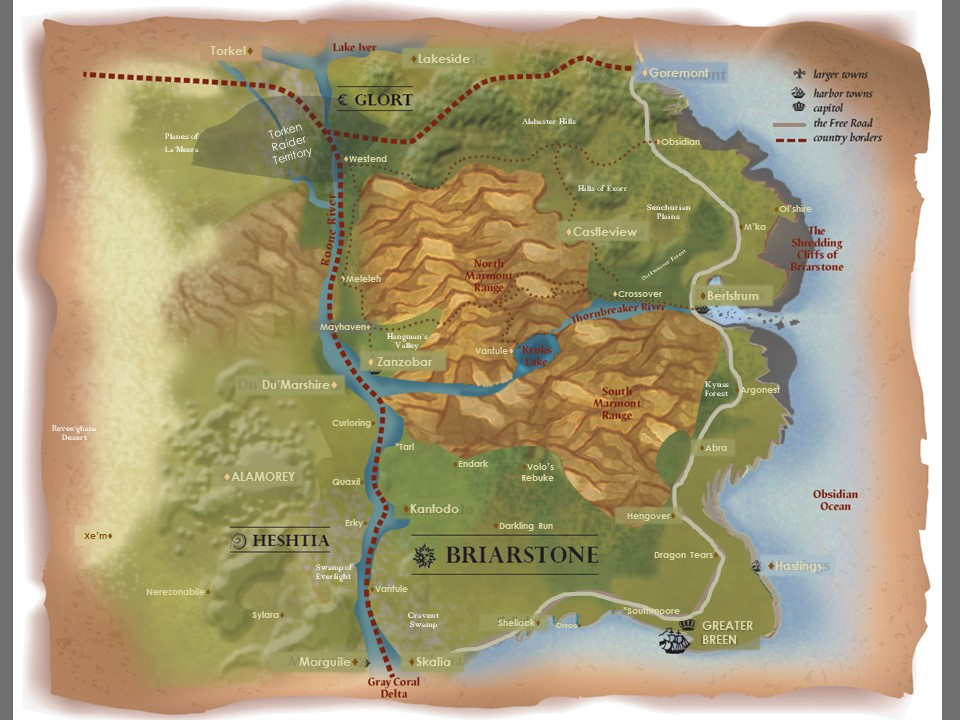 digital map of Briarstoone