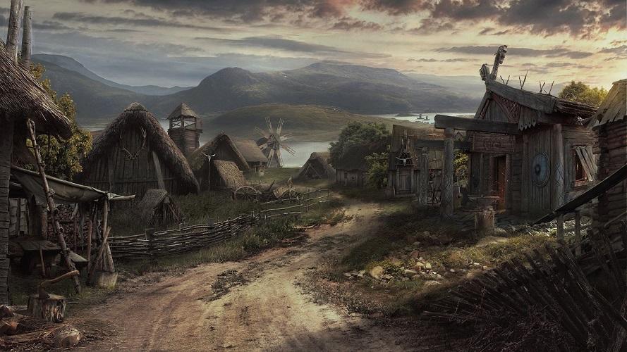 Viking Village by Lukasz Wiktorzak
