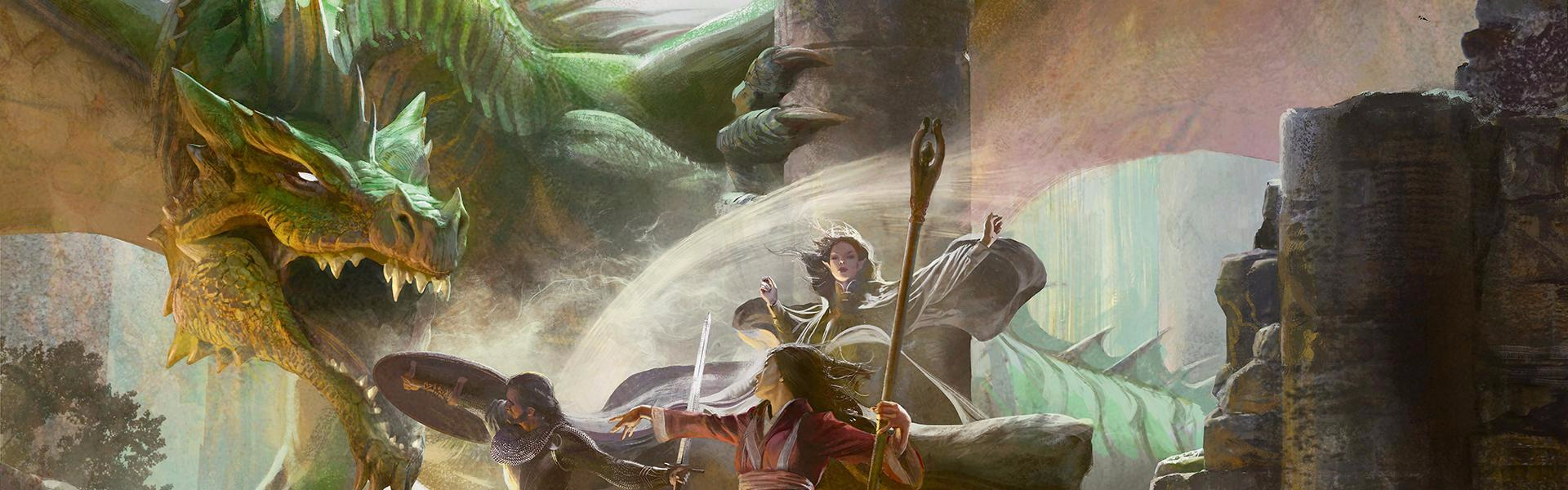 artwork from box cover of the D&D 5.0 Starter Set