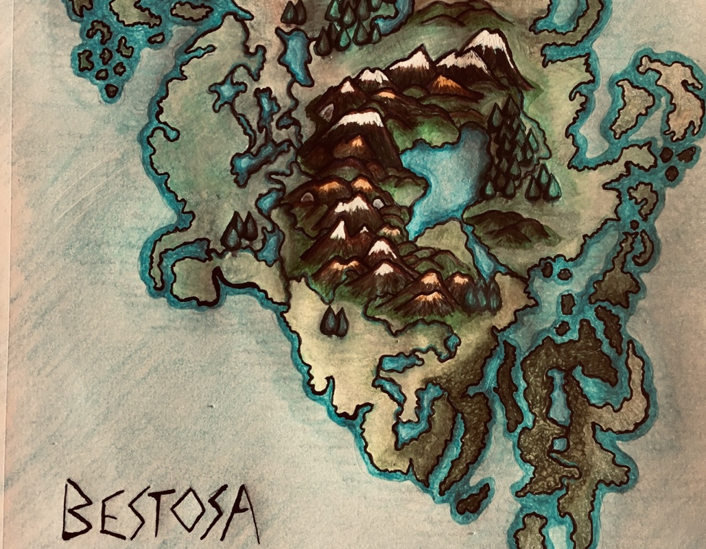 Bestosa continent color sketch