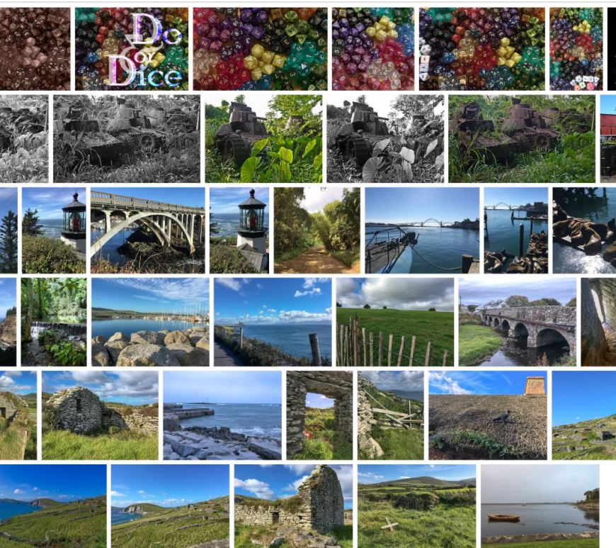 Screen capture of my photos for sale on Shutterstock