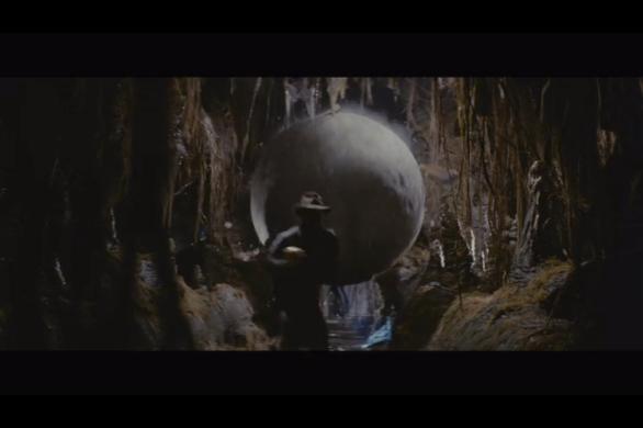 Indiana Jones running from boulder trap