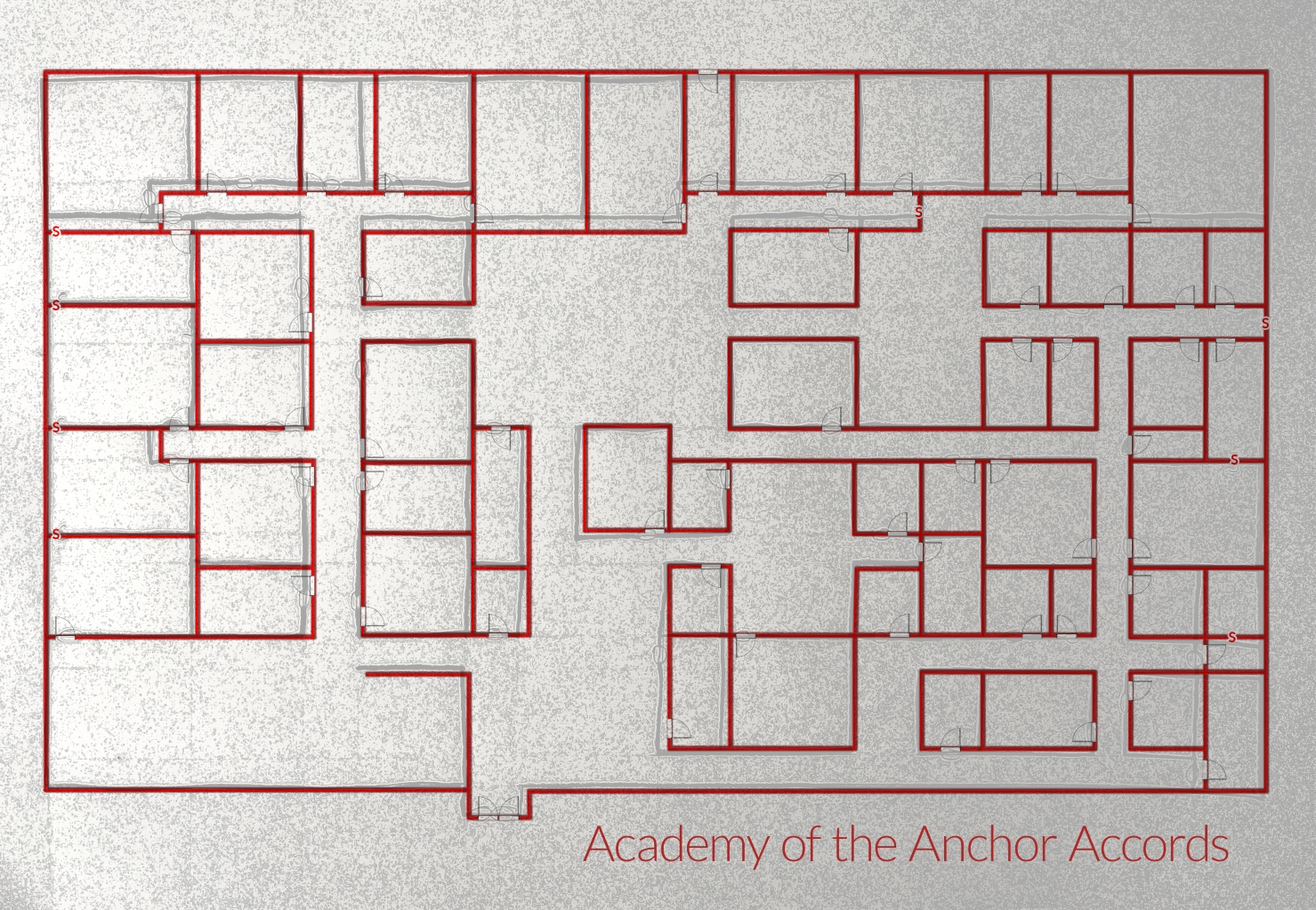 Floor plan of the Academy of the Anchor Accords