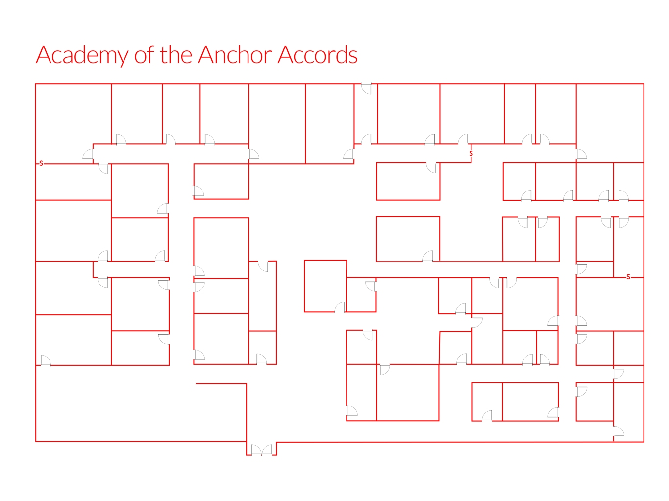 Academy of the Anchor Accords floor plan map