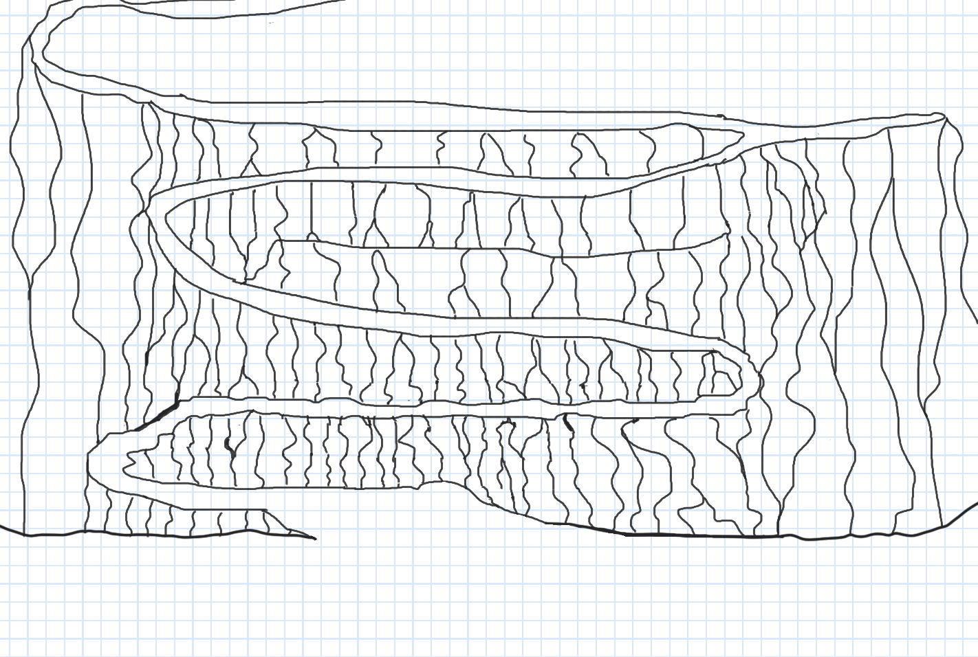 Rough sketch of a switchback trail