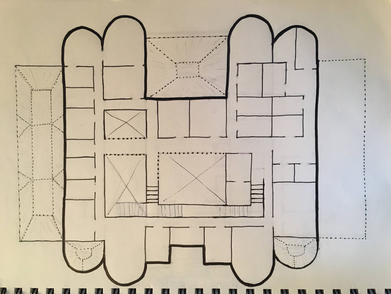 the original sketch of the upper level